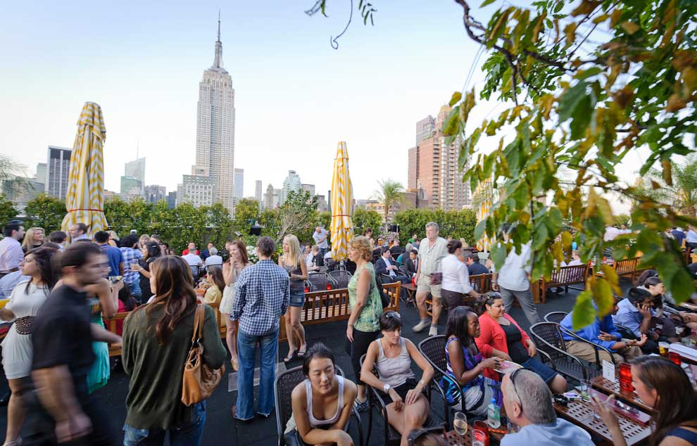 230 fifth rooftop bar crowded by visitors