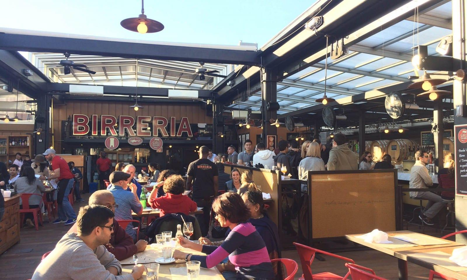 Visitors at Birreria Rooftop Bar