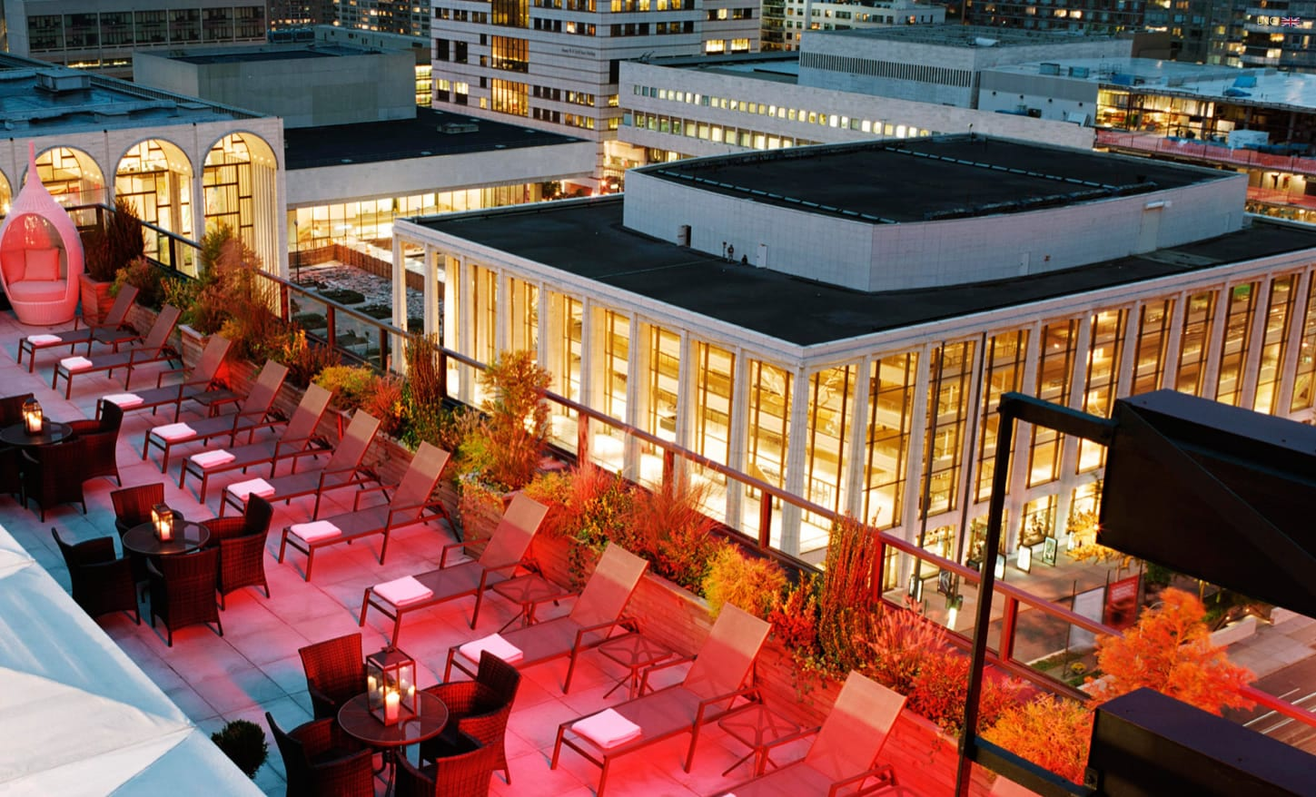 Empire Hotel Rooftop Bar Seating