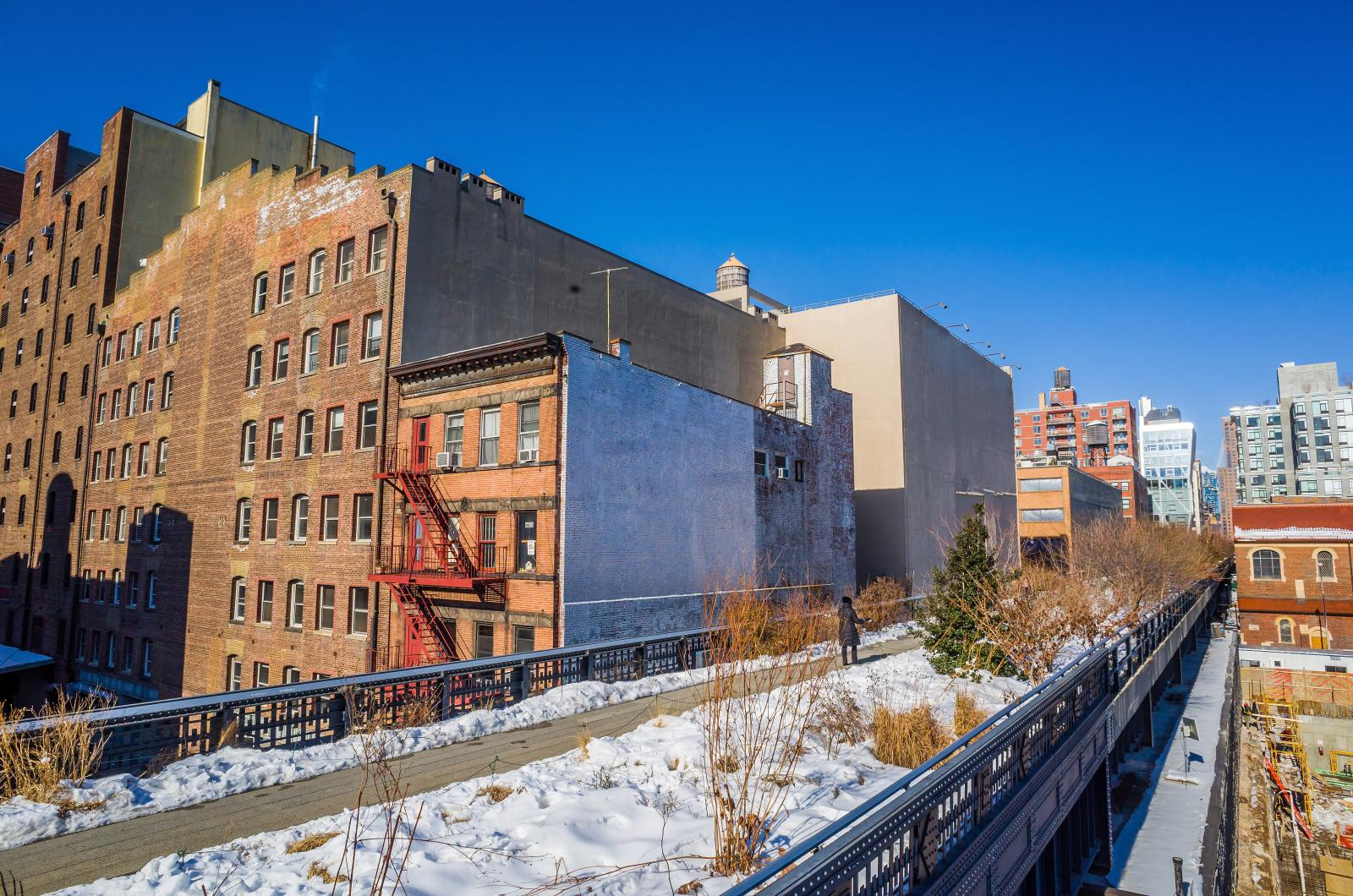 High Line Park NYC Winter