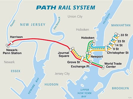 Nj Subway Map.From New Jersey To New York Our Tipps Tricks