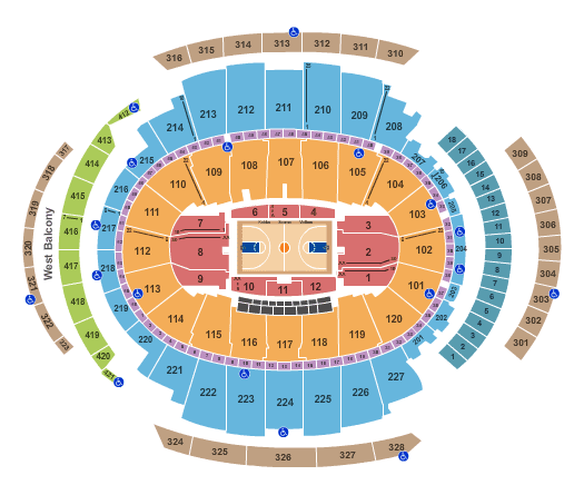 Knicks Game Tickets Seating Plan