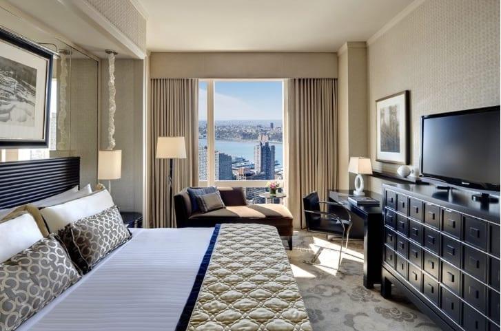 hotel room at mandarin oriental new york