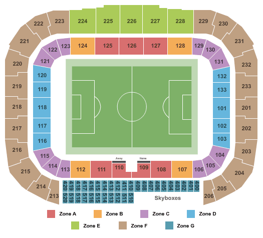 New York Red Bulls Tickets Seating