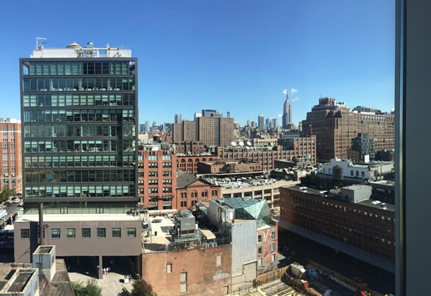 view from the standard high line hotel new york
