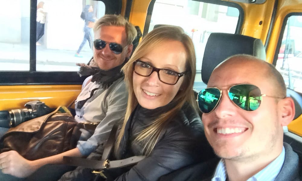 tino, steffen and sabrina in new york