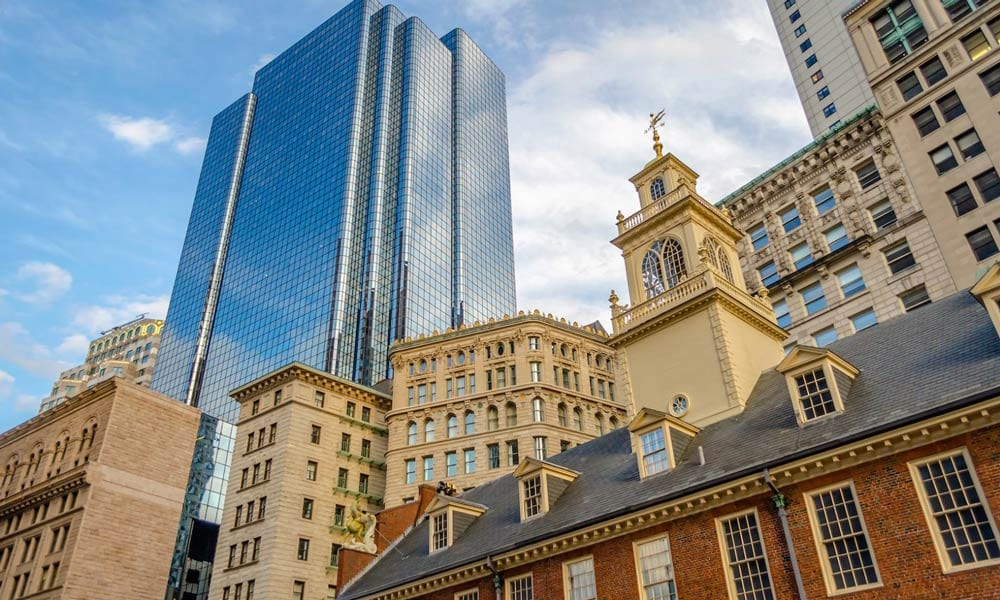 exchange place building at boston
