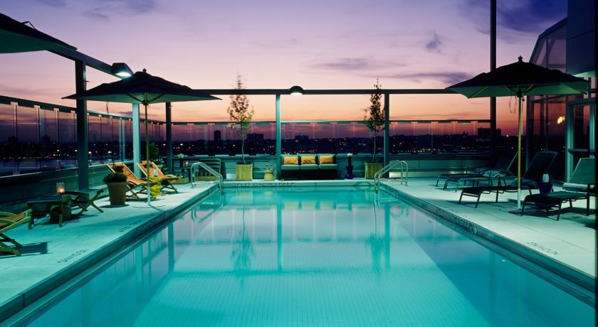 pool area at the gansevoort hotel new york