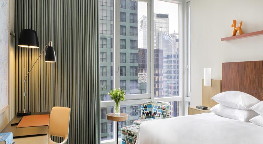 hotel room at the hyatt times square new york