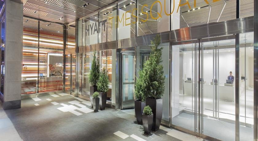 entrace at hyatt times square hotel new york