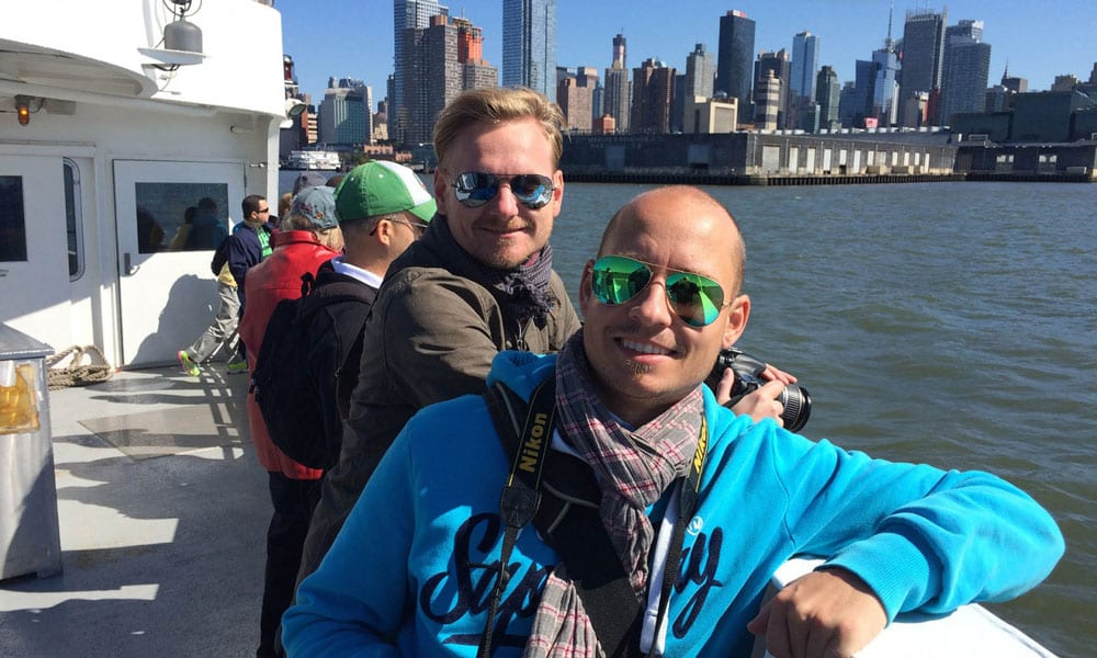 tino steffen on a cruise in new york