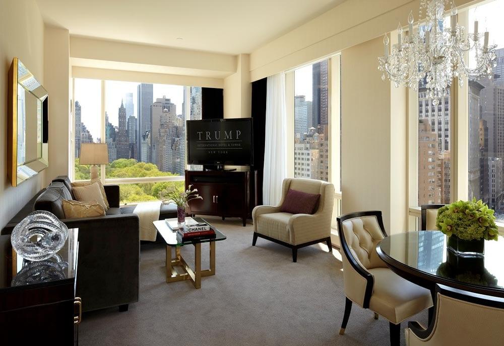 hotel room at trump international hotel new york