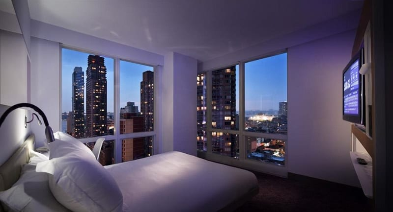 Yotel Times Square Modern Hotel With Panoramic Views Across Nyc