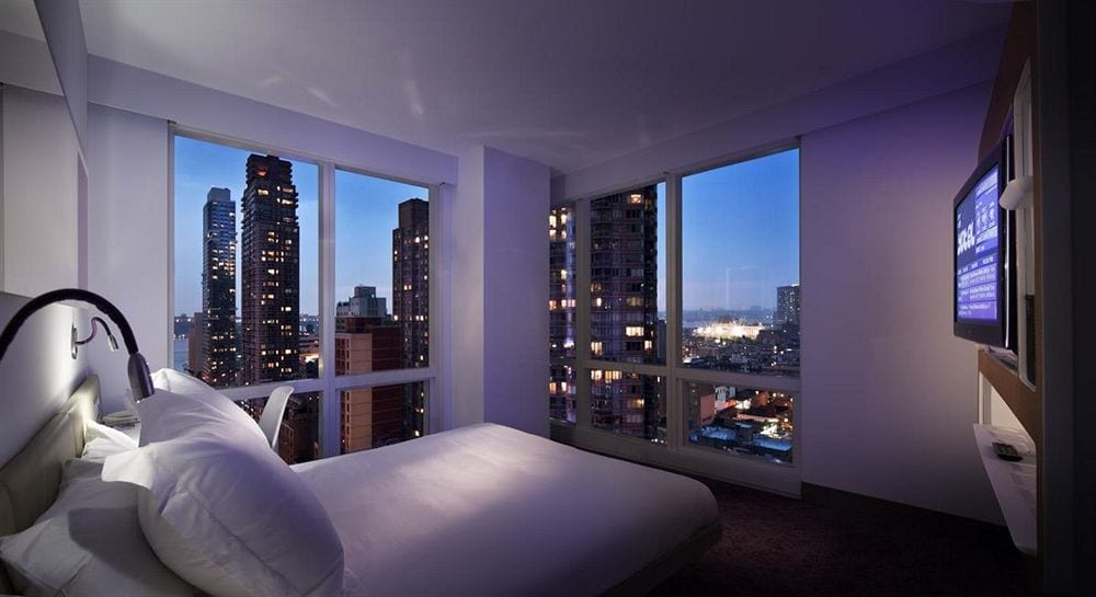 hotel room at hotel yotel times square new york