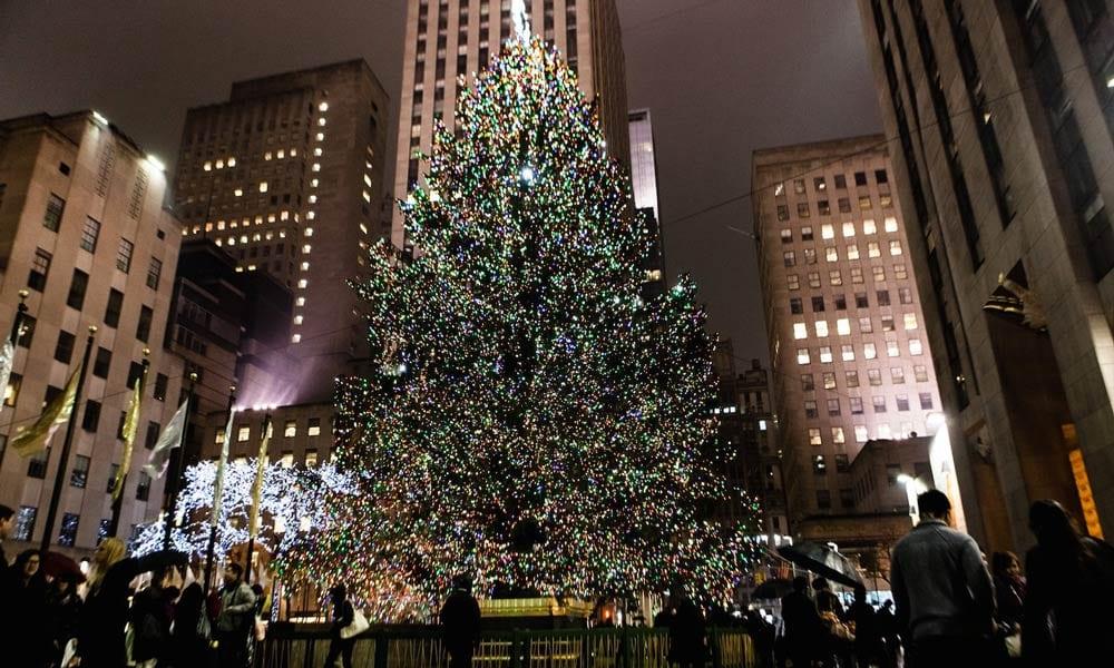 christmas tree at rockefeller center tree lighting ceremony