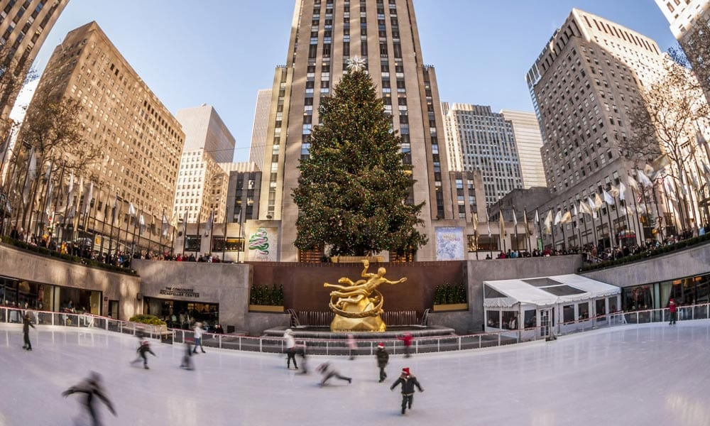 Rockefeller plaza it is the photo motif in new york during the