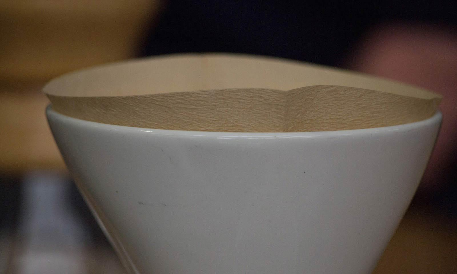 a filter in a coffee cup