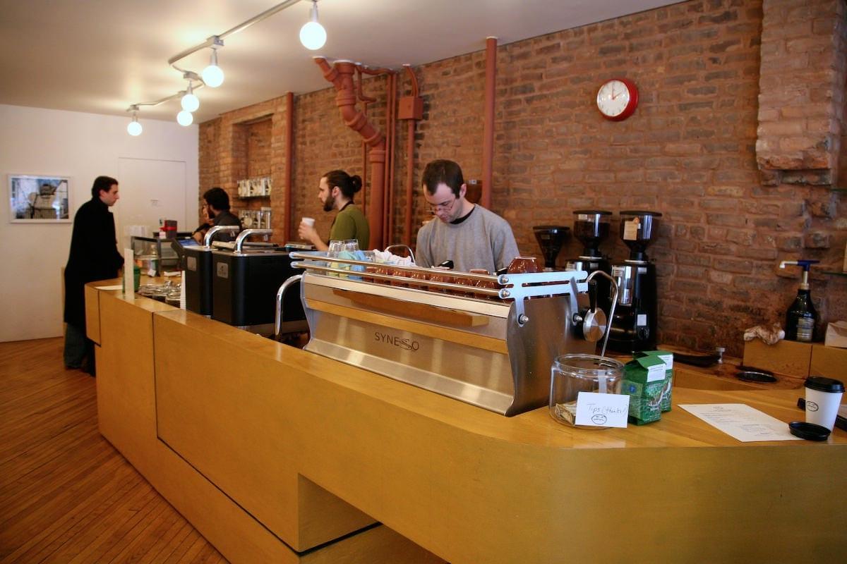 counter at cafe grumpy