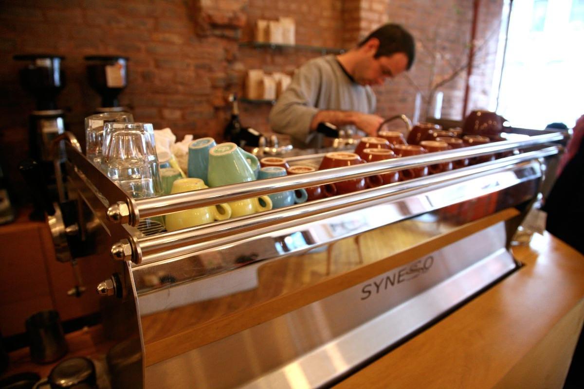 staff at counter at cafe grumpy