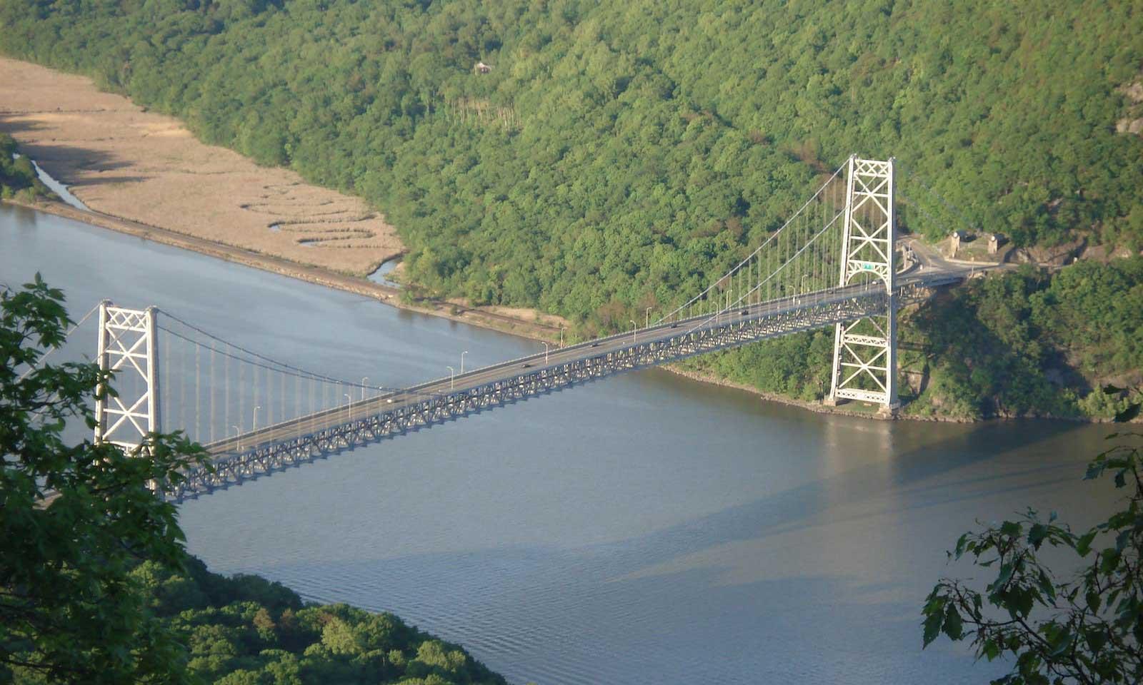 george washington bridge from above