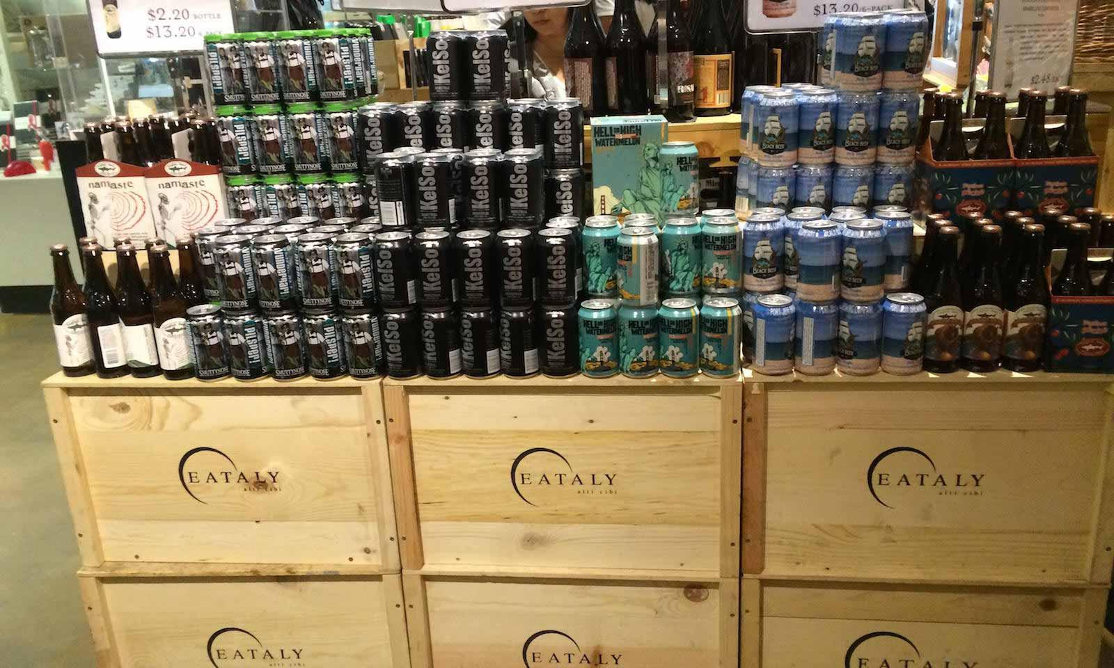 cans at eataly