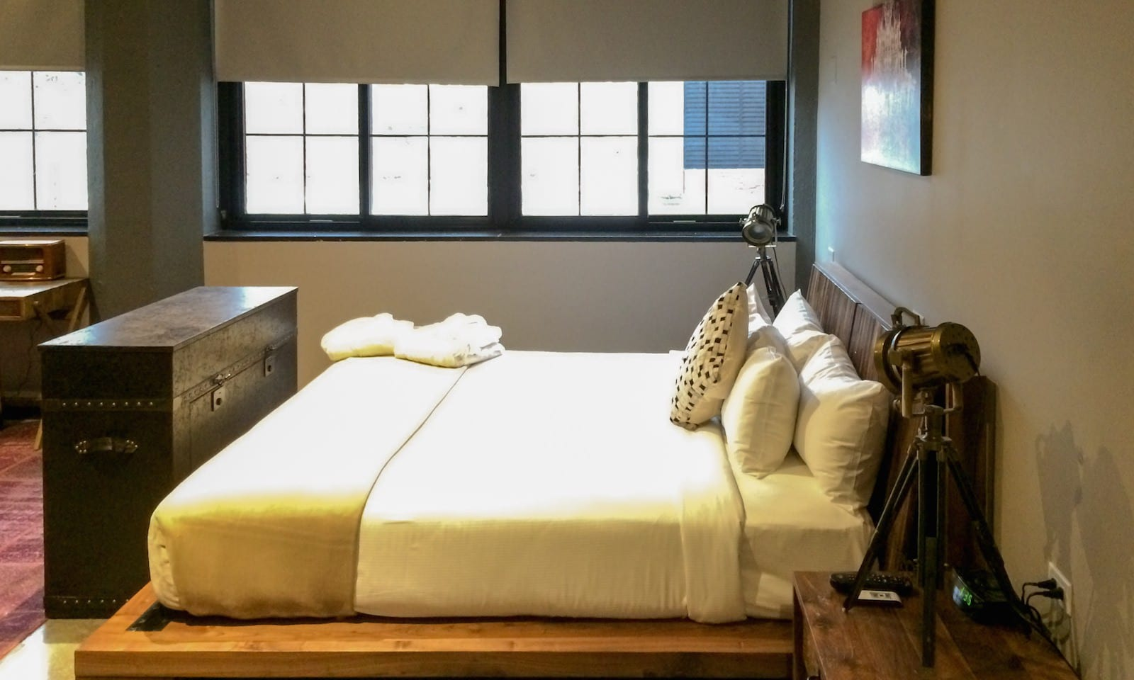 bedroom at the paper factory hotel