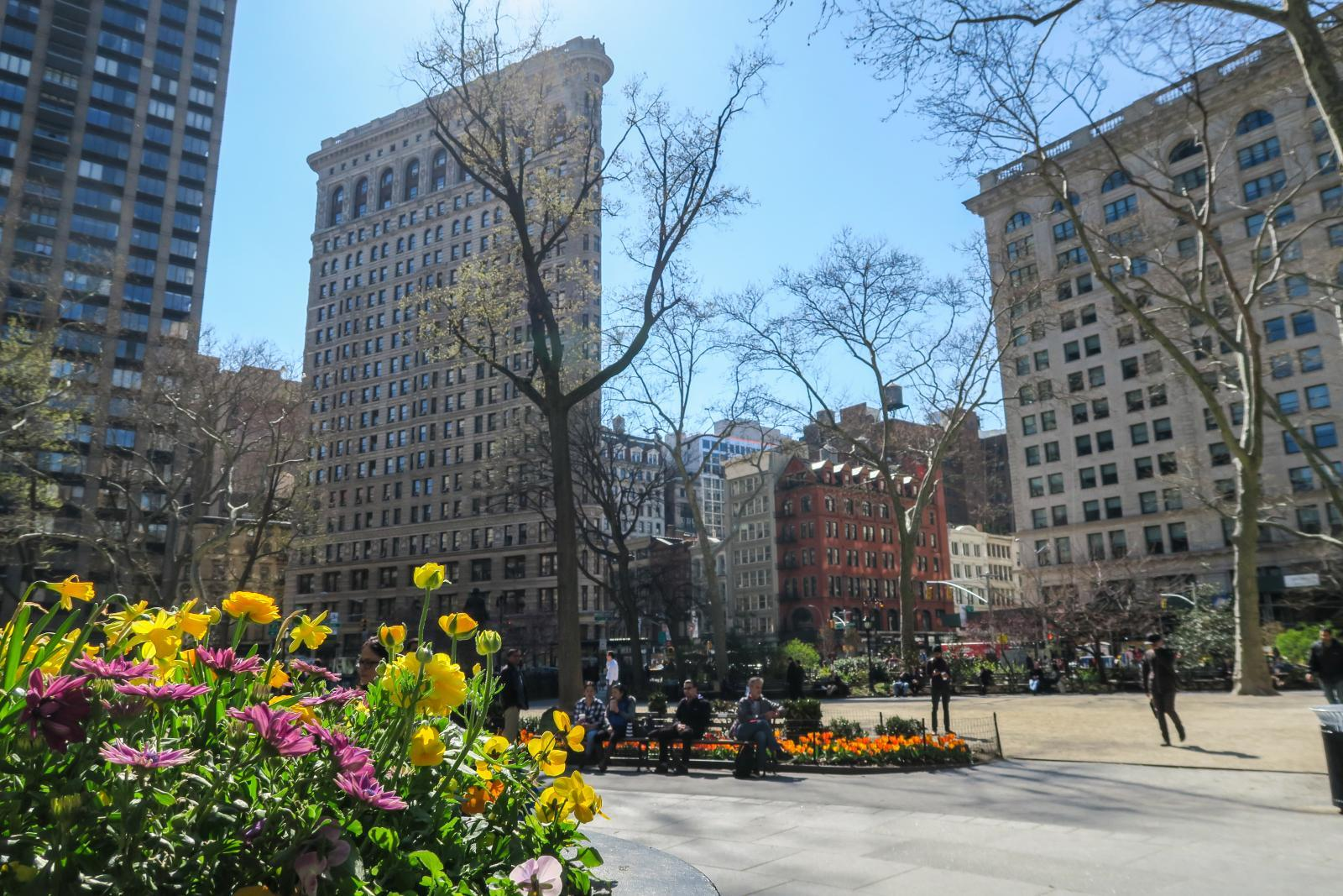 Flatiron Building From Madison Square Park