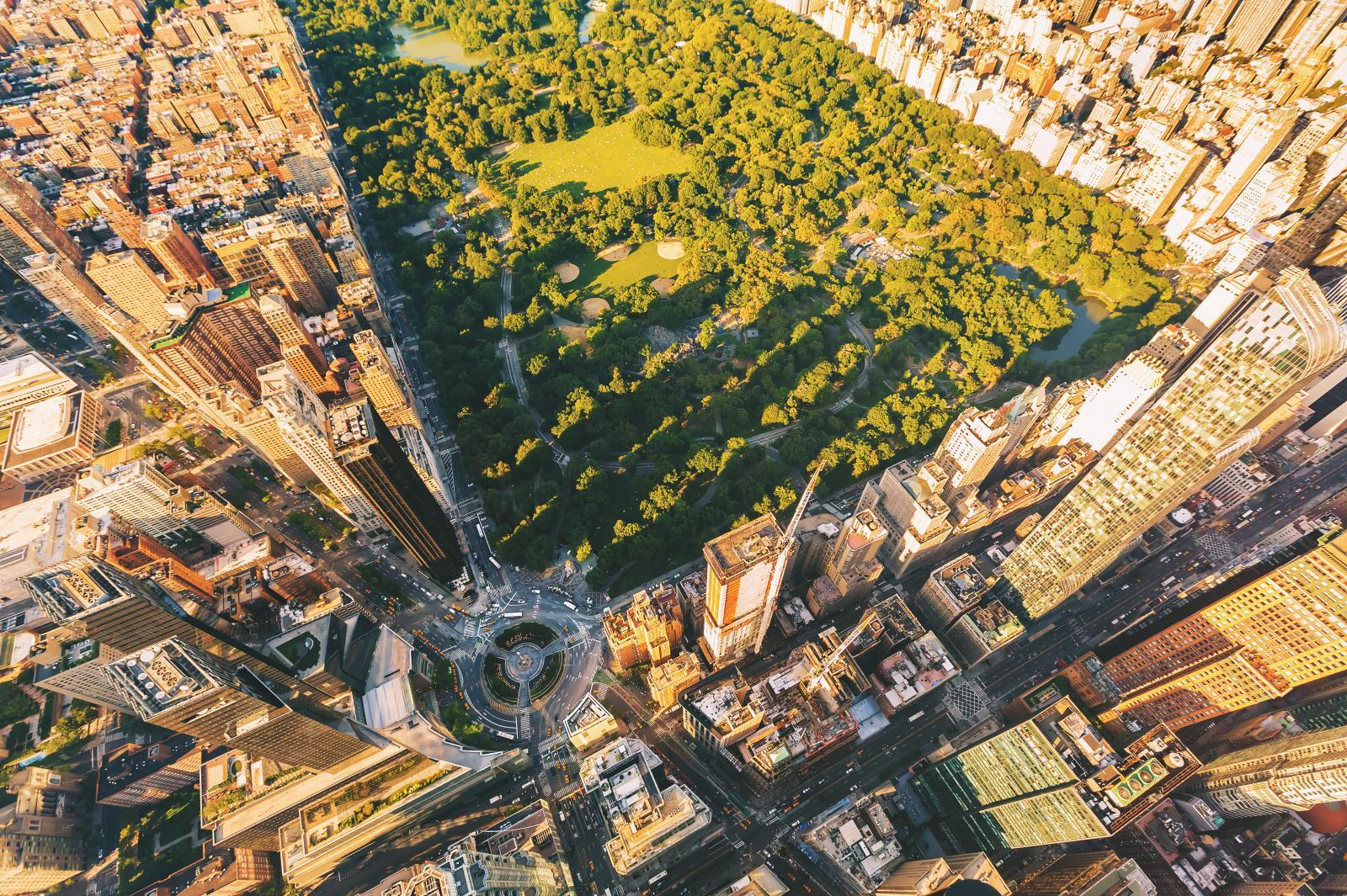 Columbus Circle From Above
