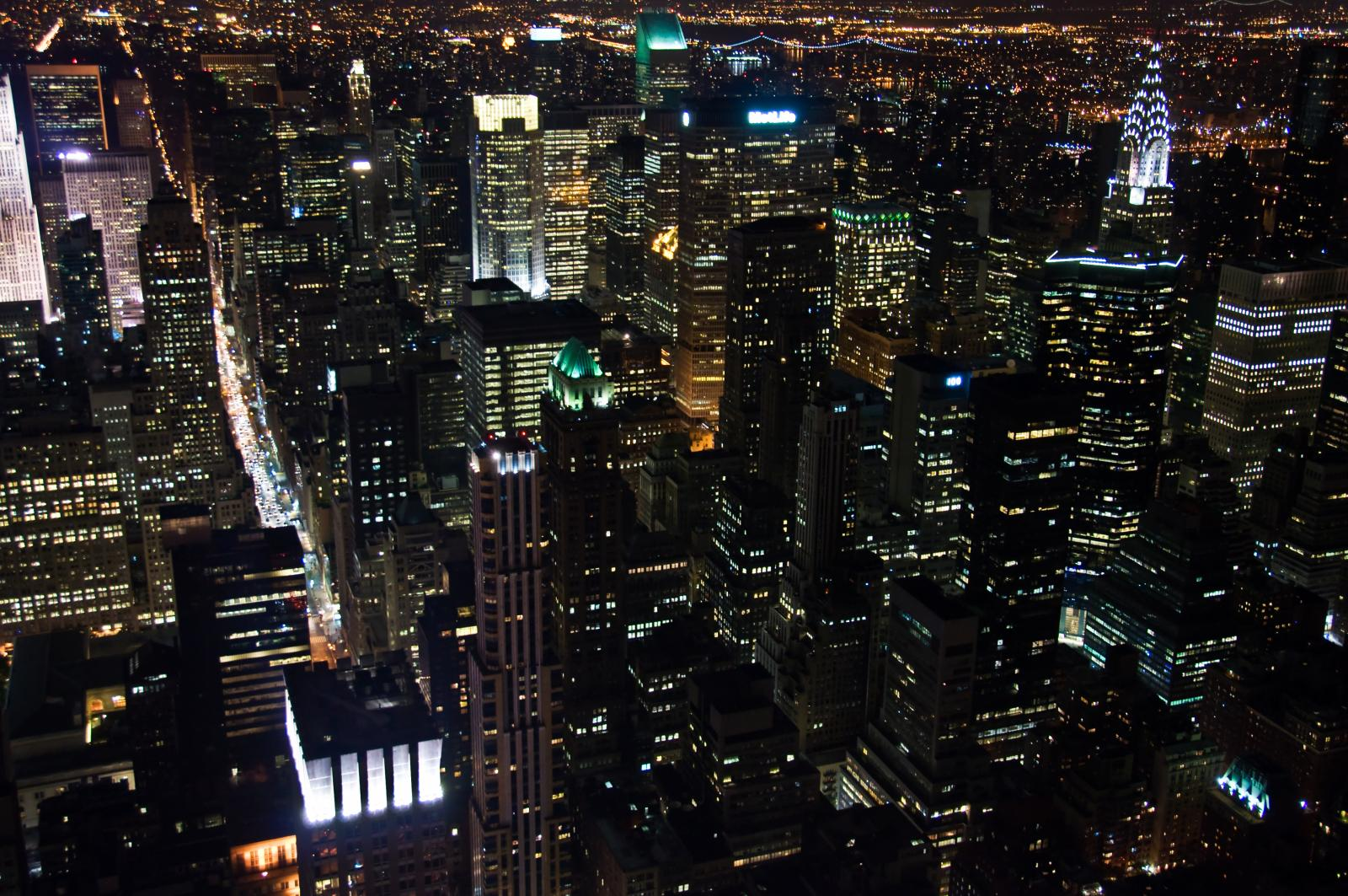 Empire State Building View at Night