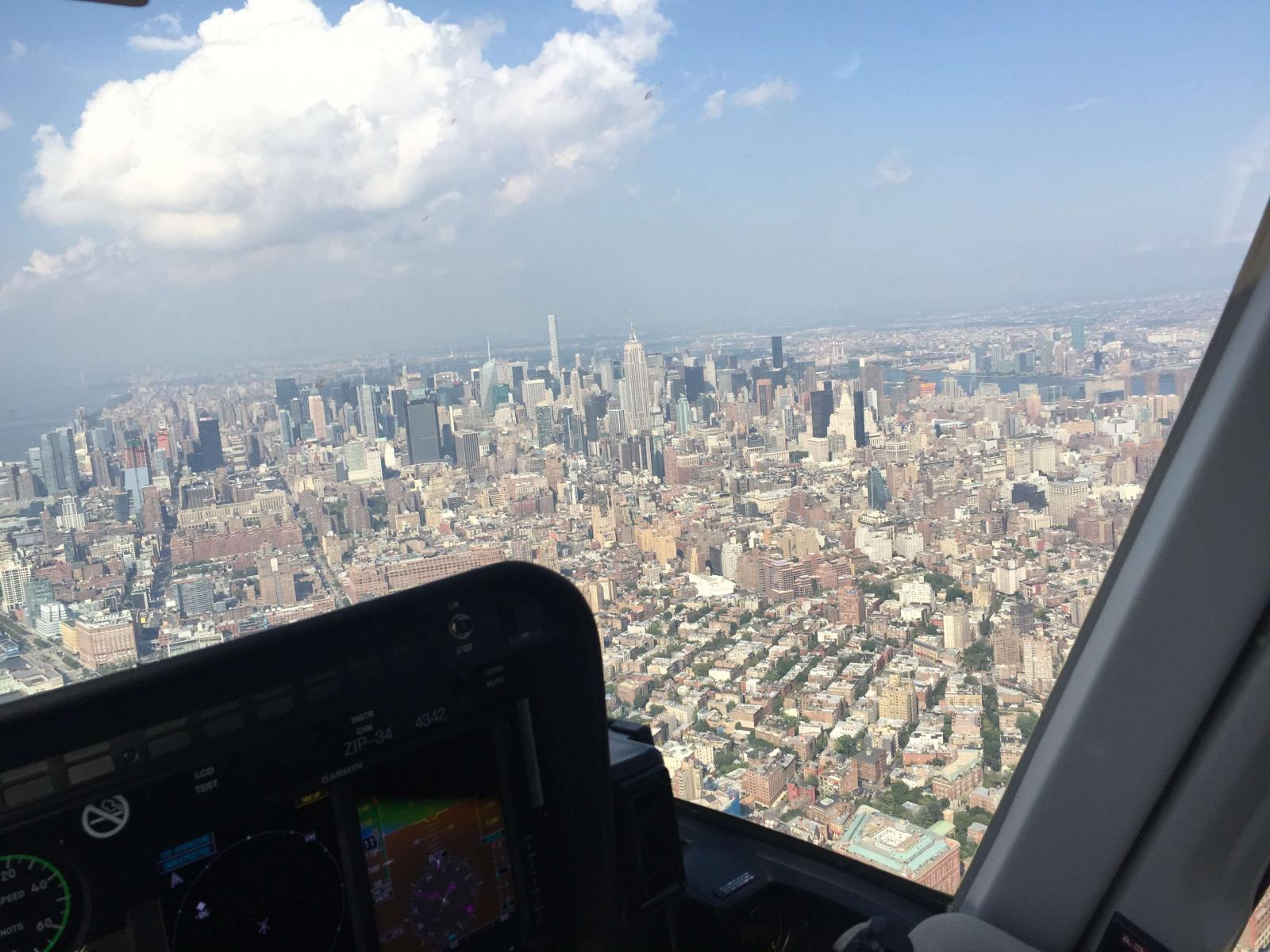 helicopter flight nyc from above