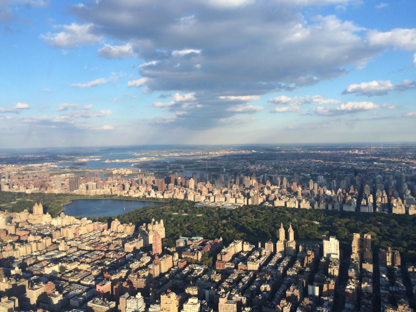 Central Park From A New York Helicopter Tour