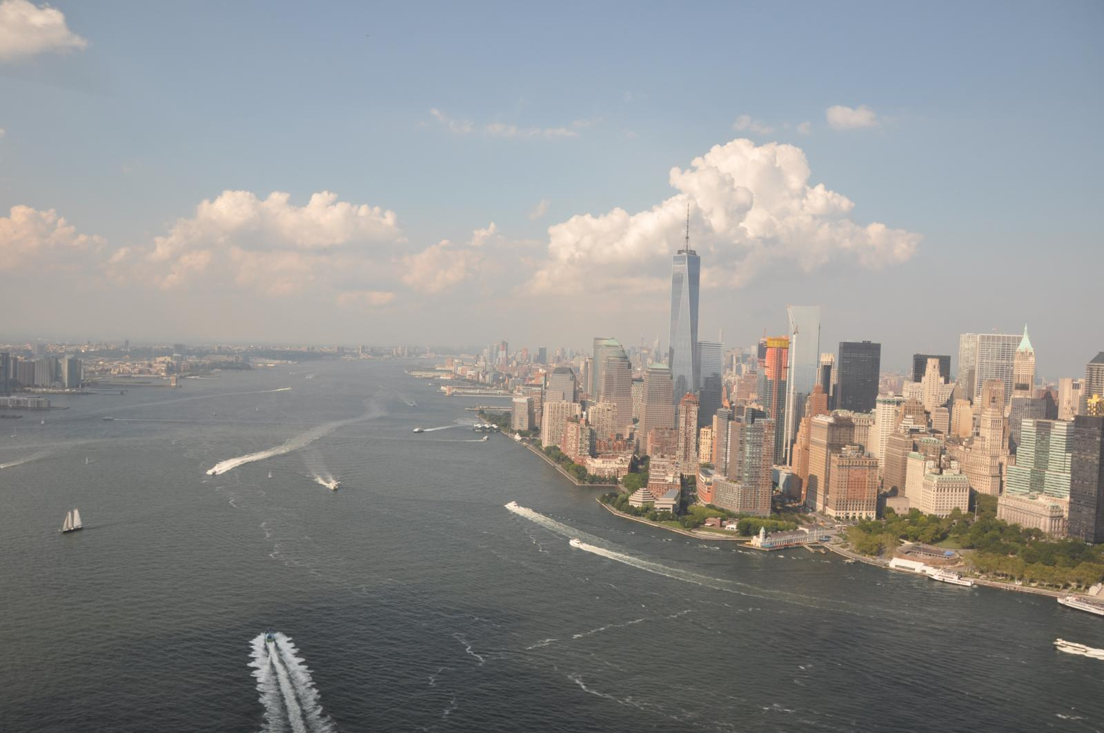 Hudson river from a helicopter tour