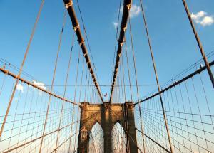 Brooklyn Bridge during sunset