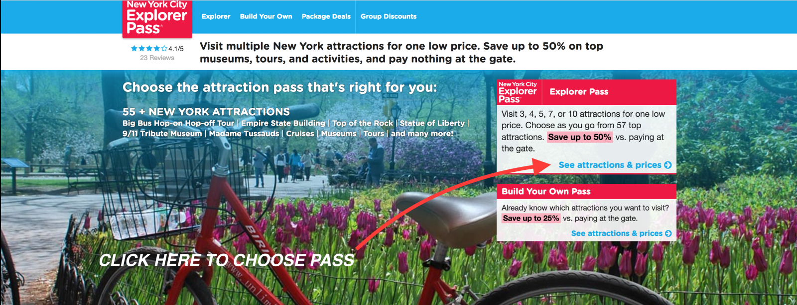 Click here to buy NYC Explorer Pass