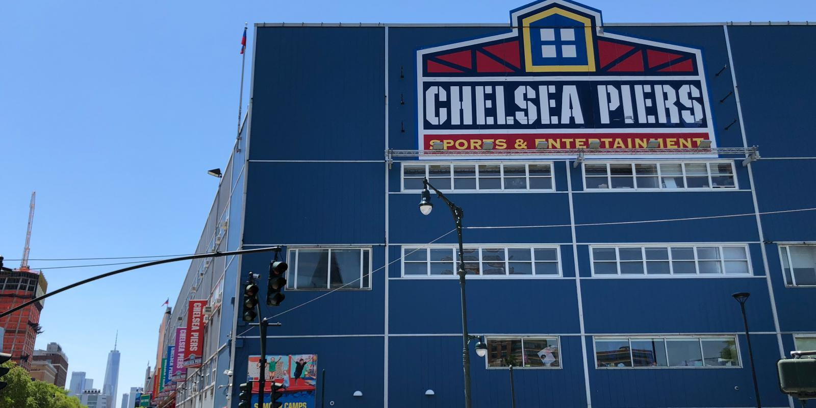 New York bei Regen: Chelsea Piers