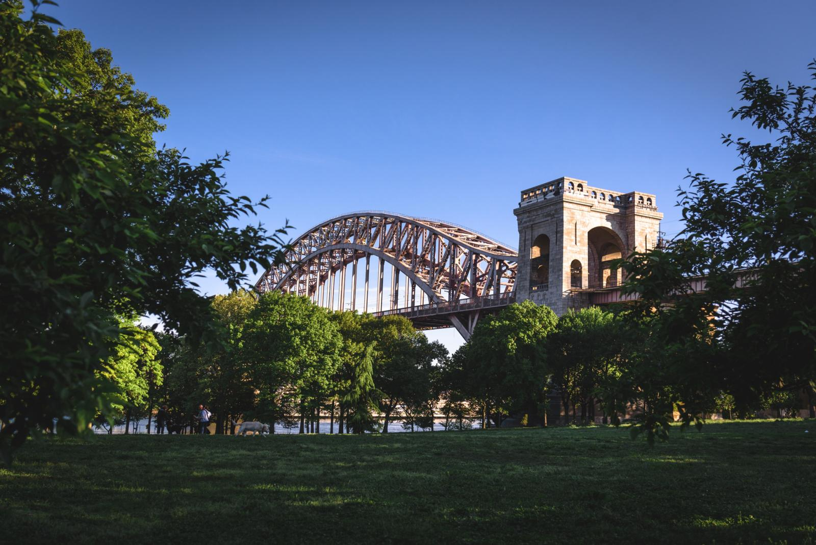 The Hells Gate Bridge overlooking Astoria Park
