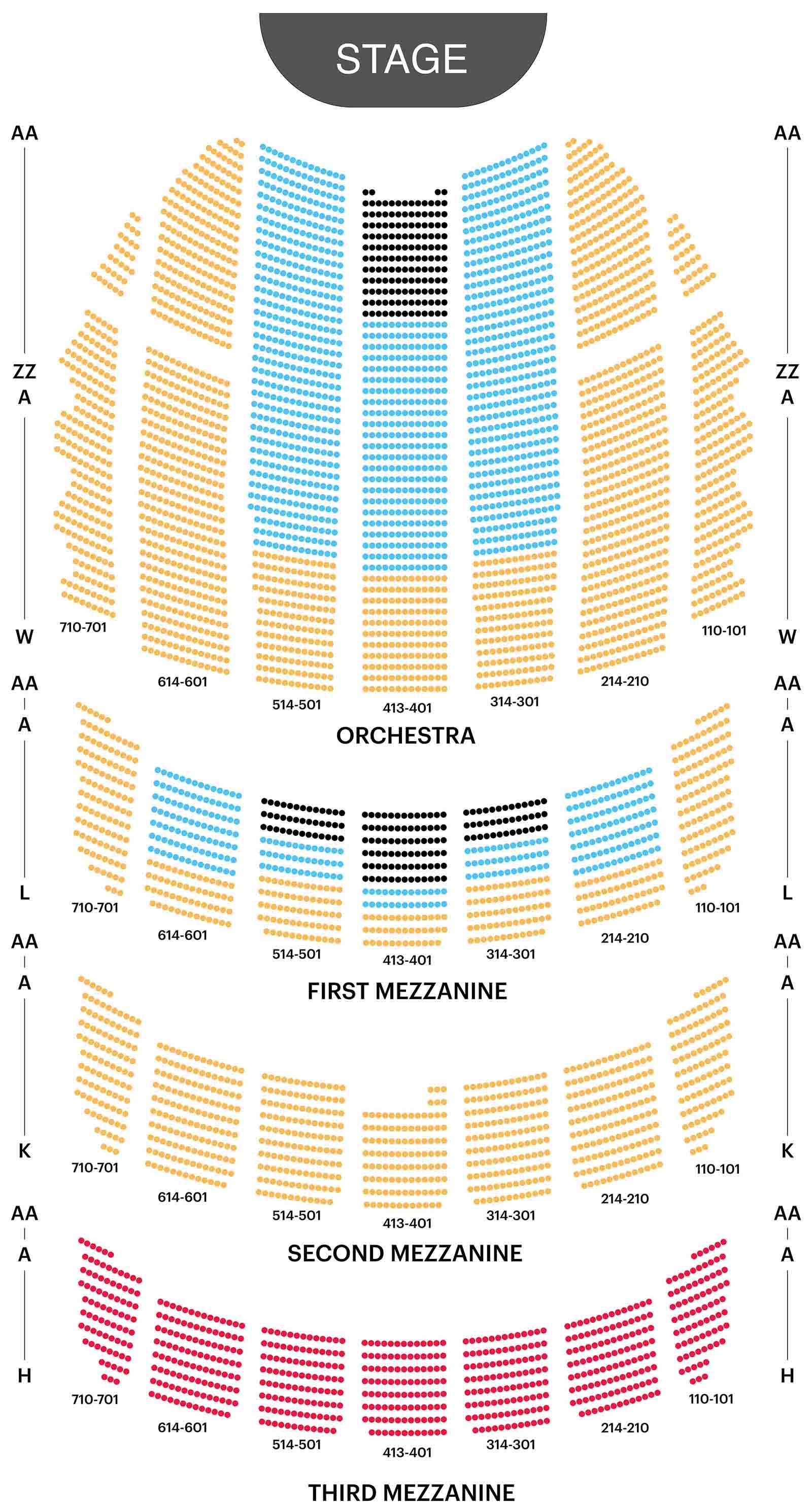 Plano de asientos del Ayuntamiento de Radio