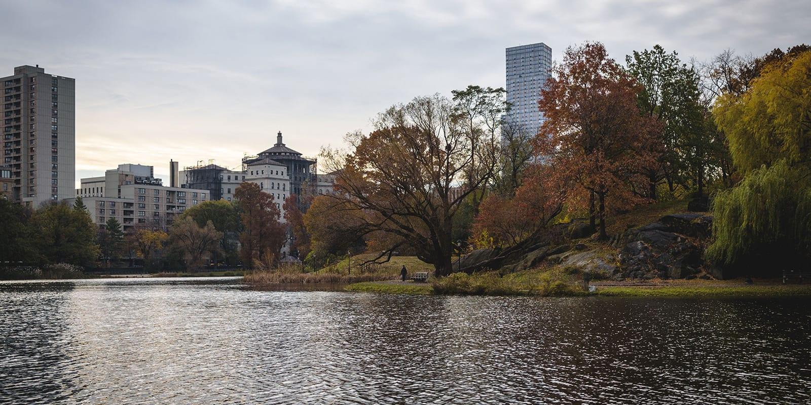 Harlem Meer in Central Park NYC