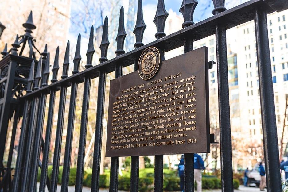 Gramercy Park Signage