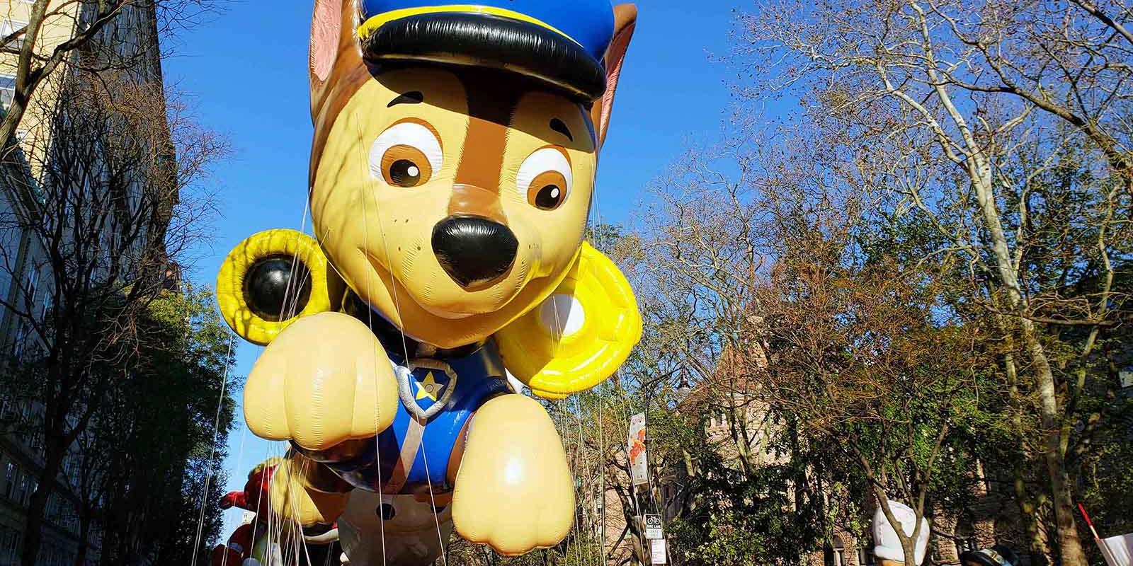 Paw Patrol Balloon at the Thanksgiving Parade