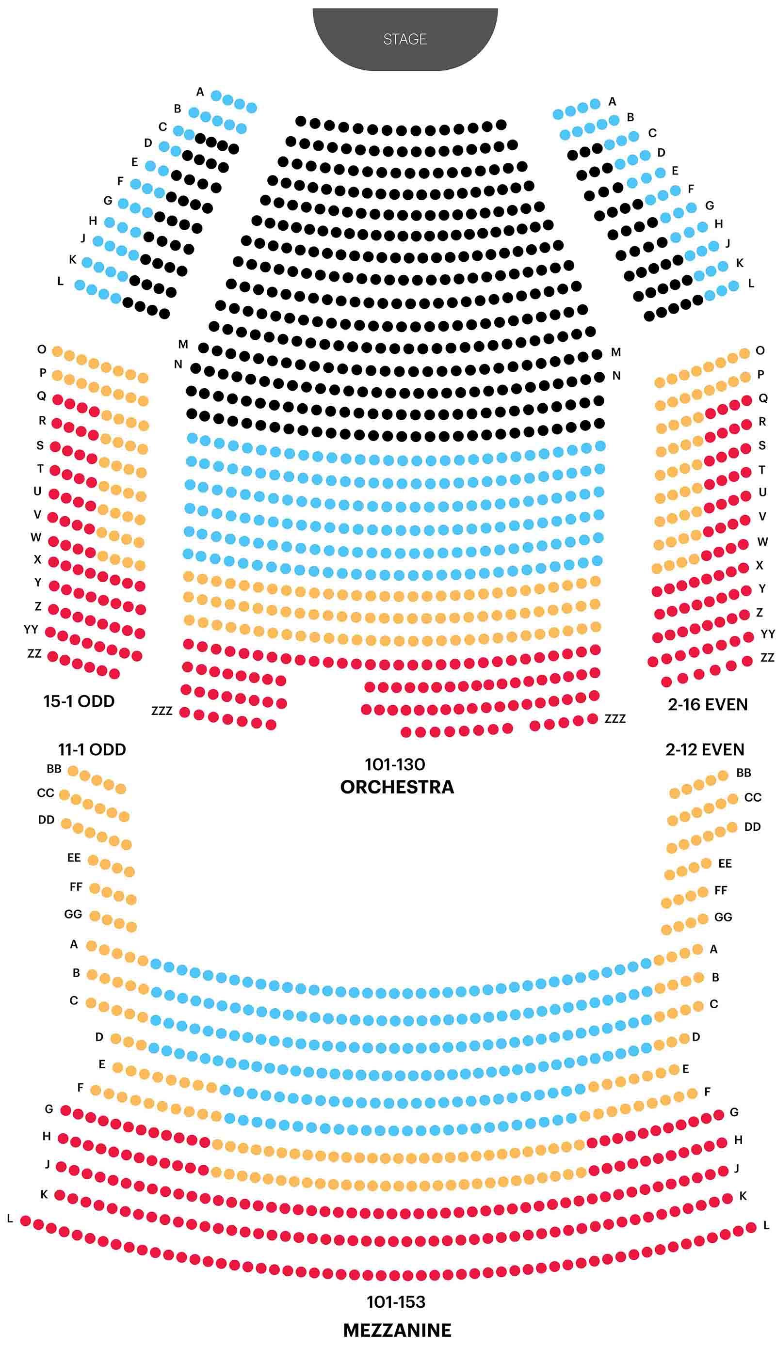 El plan de asientos del Rey León