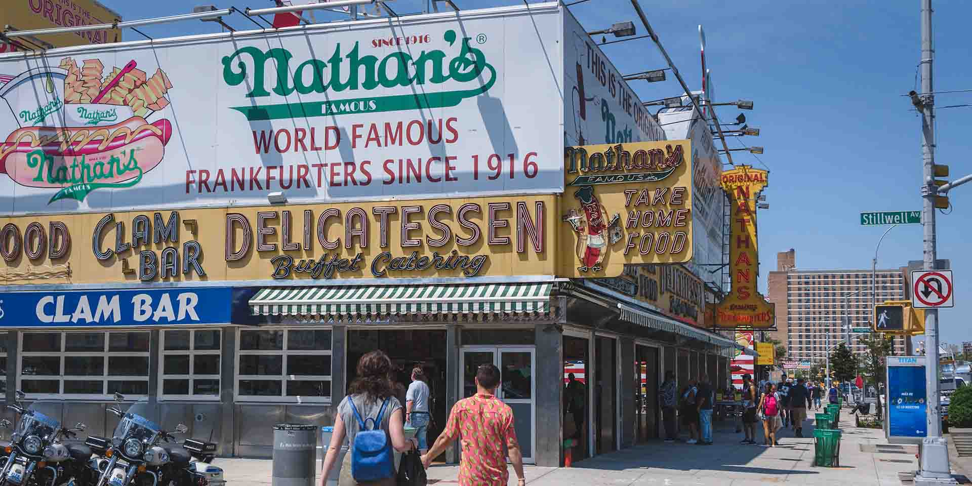 Nathan's Famous on Coney Island