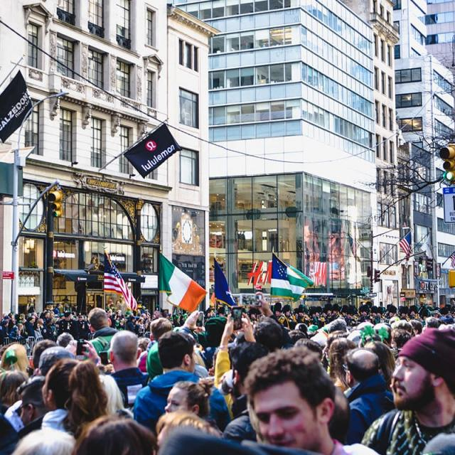 The St. Patricks Day Parade in New York