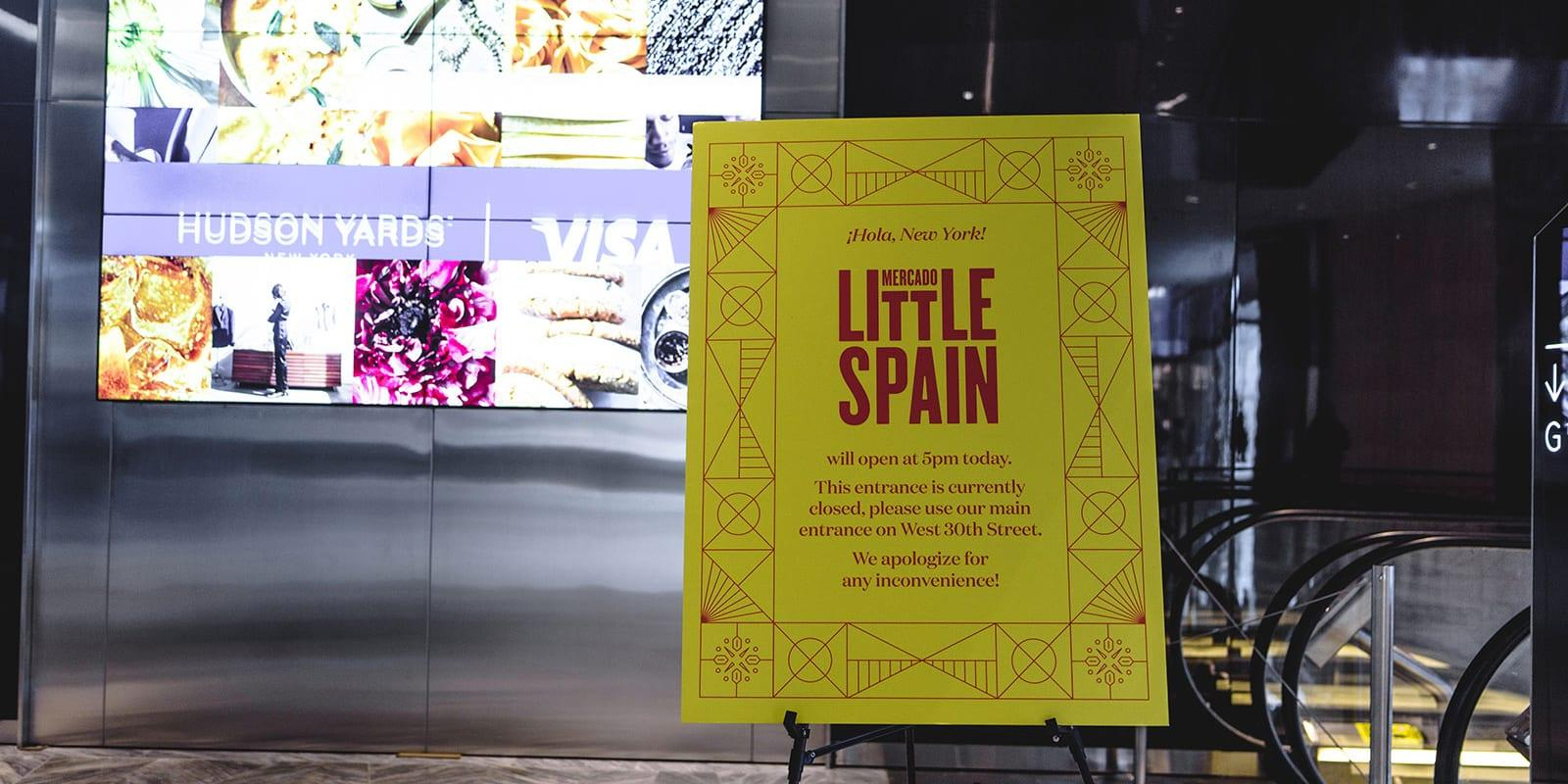 Mercado little spain sign