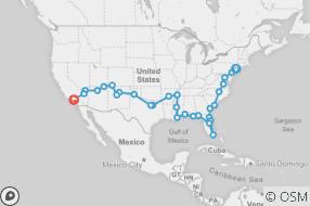 New York to LA map