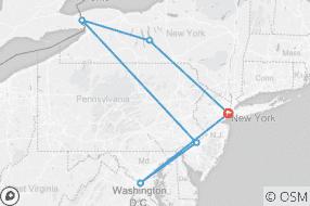 Northeast tour map
