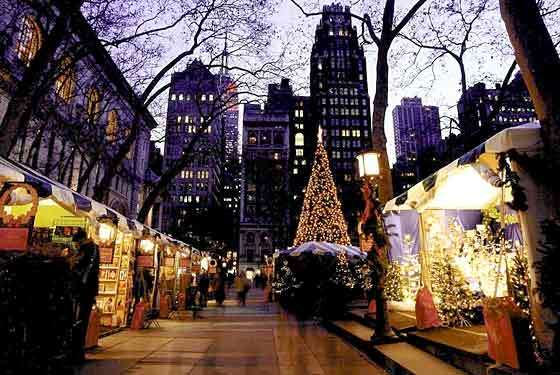 christmas markets and lights nyc