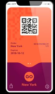 Pase a New York Pass móvil