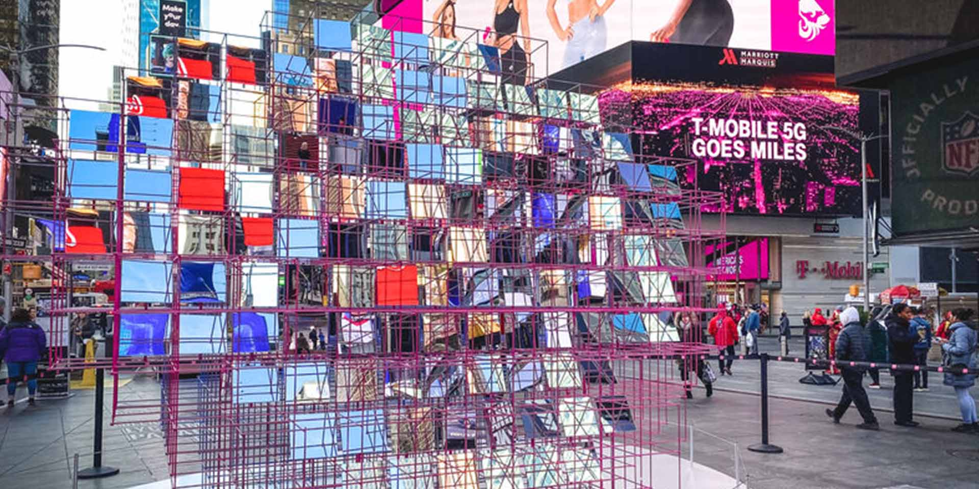 Valentine's Day Heart Design at Times Square