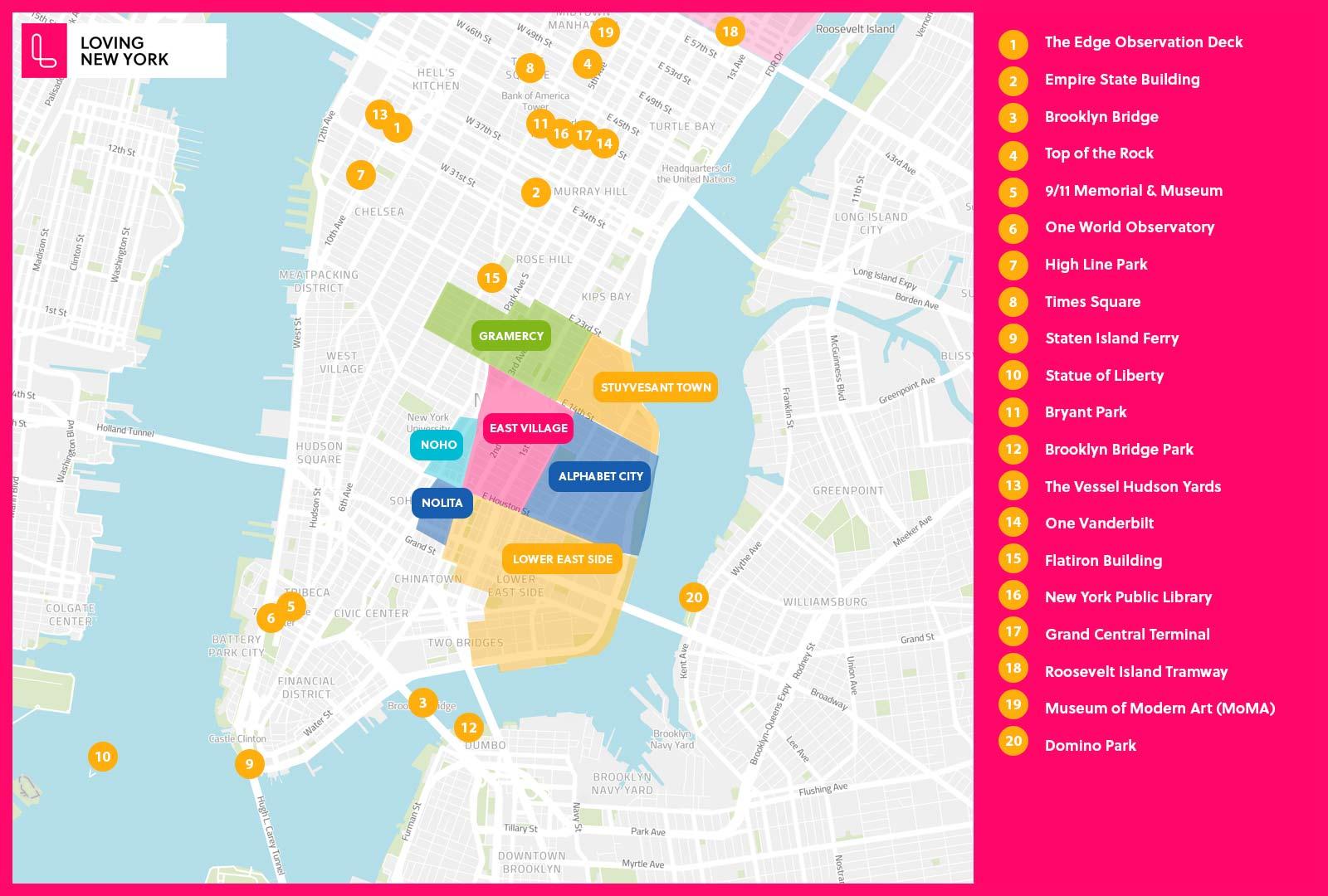 Alphabet city nyc Map